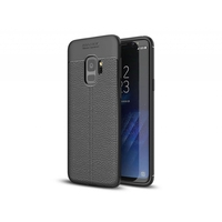 i12Cover Soft case voor de Samsung Galaxy S9 Plus in luxe zwart TPU leer