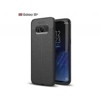 i12Cover Soft case voor de Samsung Galaxy S8 Plus in luxe zwart TPU leer