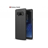 i12Cover Soft case voor de Samsung Galaxy Note 8 in luxe zwart TPU leer
