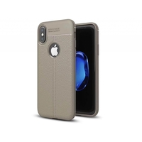 i12Cover Soft case voor de Apple Iphone X in luxe beige TPU leer