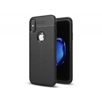 i12Cover Soft case voor de Apple Iphone X in luxe zwart TPU leer