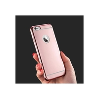 i12Cover Apple Iphone 5 Siliconen Hoesje Mat Rose Goud