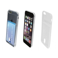 i12Cover Apple Iphone 6 Smart TPU Case met opbergvakje voor pasje