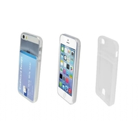 i12Cover Apple Iphone 5 Smart TPU Case met opbergvakje voor pasje