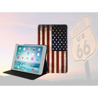 i12Cover Ipad Mini USA Book Case met vintage Amerikaanse vlag
