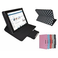 i12Cover 10.1 inch Diamond Class Polkadot Hoes met Multi-stand