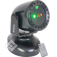 Ibiza ROOD-GROENE MINI LASER MOVING HEAD 130MW (TWIRLY-LZR)