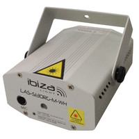 Ibiza FIREFLY LASER EFFECT 100+30MW - ROOD, GROEN (LAS-S130RG-M-WH)
