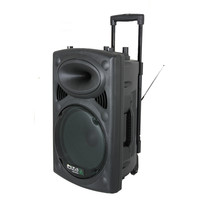 Ibiza DRAAGBAAR STAND-ALONE PA SYSTEEM 10?/25CM MET USB-MP3, BT, REC, VOX, 1 VHF & 1 BEDRADE MICROFOON (PORT12VHF-BT)