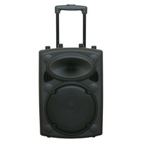 Ibiza DRAAGBAAR STAND-ALONE PA SYSTEEM 10?/25CM MET USB-MP3, BT, REC, VOX, 1 VHF & 1 BEDRADE MICROFOON (PORT10VHF-BT)