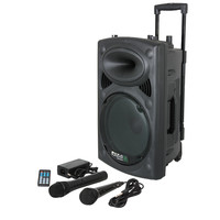 Ibiza DRAAGBAAR STAND-ALONE PA SYSTEEM 8?/20CM MET USB-MP3, REC, VOX, BLUETOOTH, 1 VHF & 1 BEDRADE MICROFO (PORT8VHF-BT)