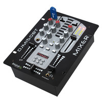 Ibiza TABLE DE MIXAGE A 2 VOIES/5 CANAUX  AVEC USB-MP3, AFFICHEUR DIGITAL +BLUETOOTH  (DJM150USB-BT)