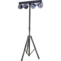 Ibiza SUPPORT DE LUMIERE AVEC 4 PROJECTEURS PAR 12 x 1W RGBW (DJLIGHT80LED)