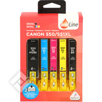 INKLINE CANON 550 XL + 551 XL (5 PACK)