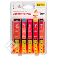 INKLINE CANON 570/571XL 5PACK B+C
