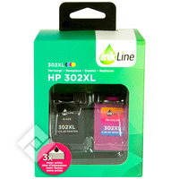 INKLINE HP 302XL 2PACK BL+CL