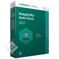 KASPERSKY ANTI-VIRUS 2017 BLX 1U 1Y, Software