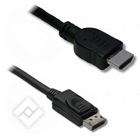 LINEAIRE DISPLAYPORT TO HDMI 1.8M