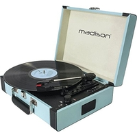 Madison VINTAGE DRAAITAFELKOFFER MET BLUETOOTH, USB, SD & REC FUNCTION (MAD-RETROCASE-BLU)