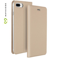 Mayaxess Etui iPhone 7 Plus / iPhone 8 Plus Housse clapet portefeuille fonction stand