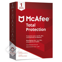 MCAFEE TOTAL PROTECTION 1U NL/FR