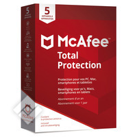 MCAFEE TOTAL PROTECTION 5U NL/FR