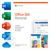 MICROSOFT OFFICE 365 PERSONAL 1 YEAR NL