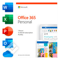 MICROSOFT OFFICE 365 PERSONAL 1 YEAR EN