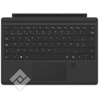 MICROSOFT TYPECOVER AZERTY BE FINGERPRINT BLACK