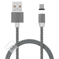 MOBIPARTS MAGNETIC LIGHTNING USB CABLE 1.5A DARK GREY 1M