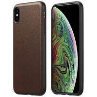 NOMAD COQUE IPHONE XS MAX PROTECTION CUIR PREMIUM COMPATIBLE QI RUGGED NOMAD MARRON