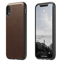 NOMAD COQUE IPHONE XR PROTECTION CUIR PREMIUM RIGIDE COMPATIBLE QI RUGGED NOMAD MARRON
