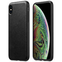 Nomad Coque iPhone XS Max Protection Cuir premium Compatible QI Rugged Nomad Noir