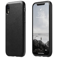 NOMAD COQUE IPHONE XR PROTECTION CUIR PREMIUM RIGIDE COMPATIBLE QI RUGGED NOMAD NOIR