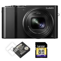 PANASONIC LUMIX DMC-TZ100 + EXTRA BATTERY + SD 8GB