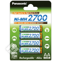 PANASONIC HIGH CAPACITY AA X4