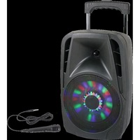 Party ENCEINTE PORTABLE 8??/20CM - 300W AVEC USB, BLUETOOTH, FM ET MICRO (PARTY-8LED)