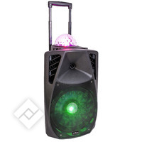 PARTY ENCEINTE ANIMEE PORTABLE 12??/30CM - 700W AVEC USB, BLUETOOTH, FM ET MICRO VHF (PARTY-12ASTRO)