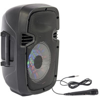 PARTY ENCEINTE PORTABLE 20CM - 300W AVEC USB, BLUETOOTH, FM ET MICRO (PARTY-7LED)