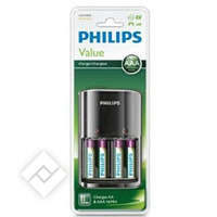 PHILIPS AA/AAA CHARGER + 4 AAA