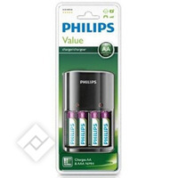 PHILIPS AA/AAA CHARGER + 4 AA