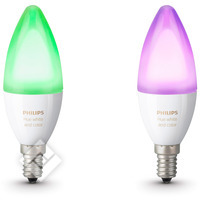 PHILIPS HUE WHITE AND COLOR AMBIANCE CANDLE 2-PACK E14