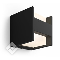 PHILIPS HUE WHITE FUZO WALL LANTERN BLACK 1744430P7