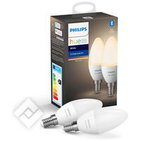 PHILIPS HUE KAARSLAMP - WARMWIT LICHT - 2-PACK