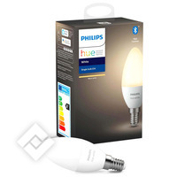PHILIPS HUE KAARSLAMP - WARMWIT LICHT - 1-PACK