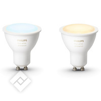 PHILIPS HUE WHITE AMBIANCE SPOT 2-PACK GU10