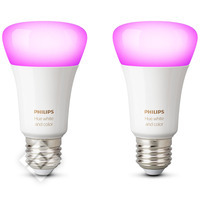 PHILIPS HUE WHITE AND COLOR AMBIANCE BULB 2-PACK E27
