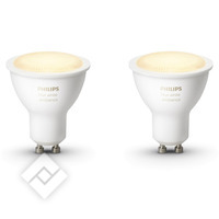 PHILIPS HUE WHITE SPOT 2-PACK GU10