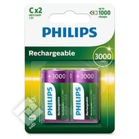 PHILIPS LR14 R X2 300MAH