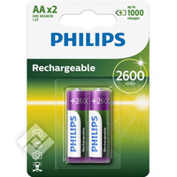 PHILIPS LR06 2600MAH X2